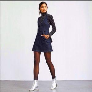 NWT Reformation Ridley Jumper Denim Mini Dress
